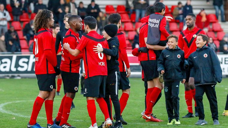 Door het winnen van de periodetitel is AFC volgend seizoen direct geplaatst voor het hoofdtoernooi van de nationale KNVB-beker. Beeld Pro Shots / Wouter Dill
