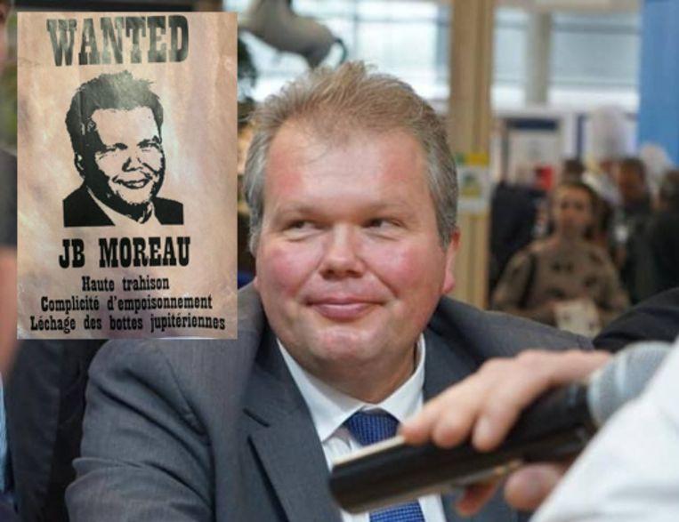 Jean-Baptiste Moreau kan niet echt lachen met de poster.