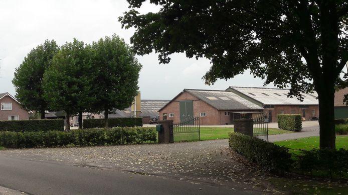 De varkenshouderij van De Rooij aan de Oisterwijksebaan in Heukelom.