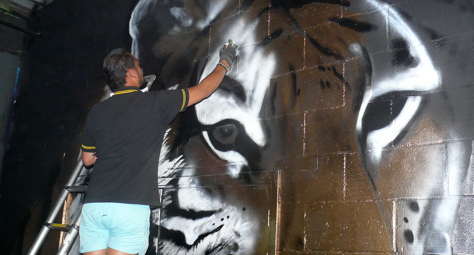The Combi Killers uit Groningen vullen weer hele wand op de vierde Graffiti Jam in Roosendaal .