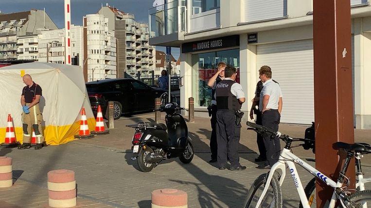 Het ongeval gebeurde op de hoek van de Zeedijk en de Majoor Qualliestraat