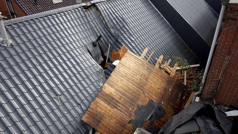 Stormschade aan een dak. Beeld ANP