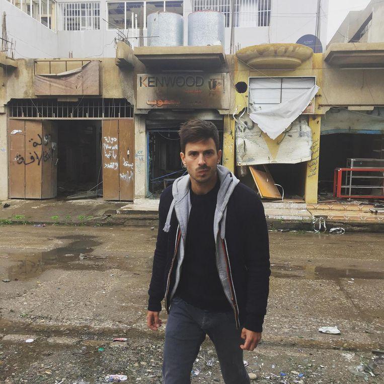Floris Caes (29) trok in maart 2017 naar Mosul voor zijn kunstproject.