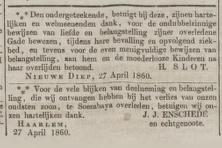 Oprechte Haerlemse Courant, 30 april 1860. Beeld