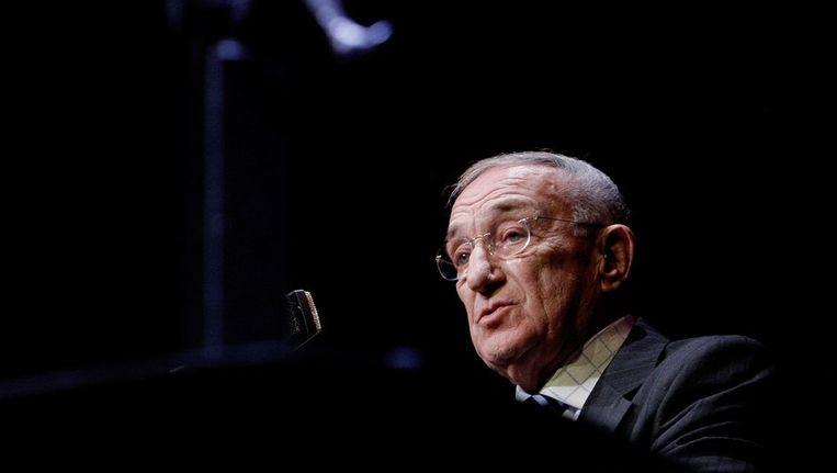 Jazzmusicus Piet Noordijk in 2008 in de Kleine Komedie bij de uitreiking van Blijvend Applaus prijs. Beeld anp