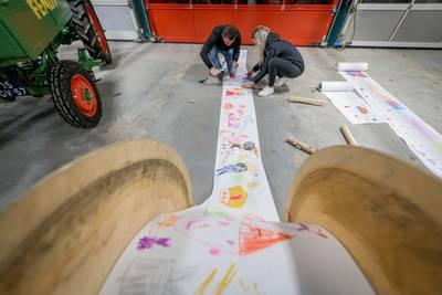 De grootste Sinterklaastekening ter wereld komt uit Overijssel