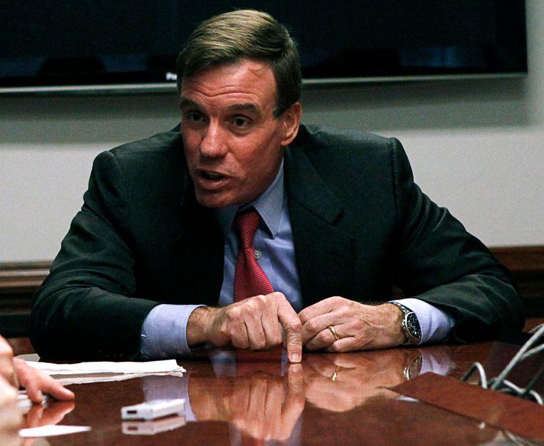 Mark Warner, Democratisch senator en vicevoorzitter van de parlementaire onderzoekscommissie naar de bemoeienissen van het Kremlin bij de verkiezing van Trump.