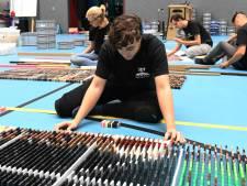 Deze jongeren sluiten zich twee weken op in Veenendaalse sporthal om dominorecord te verbreken