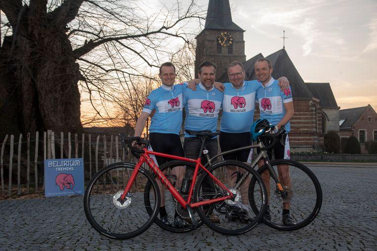 Jeroen, Giovanni, Joost en Bart nemen deel aan Expeditie Natuurpunt voor de afdeling Scheldeland.