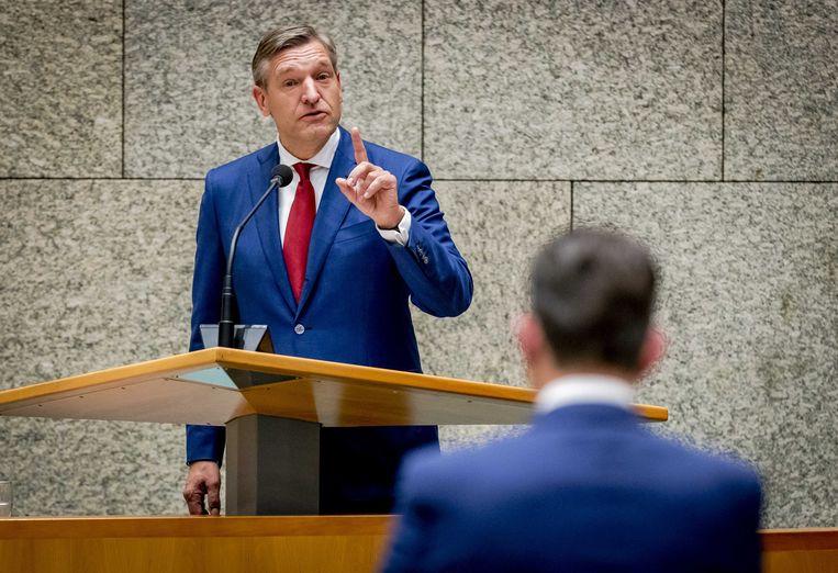 CDA'er Buma in debat met SP'er Roemer. Beeld anp