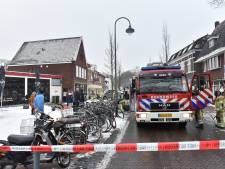 Brand met veel rook in Dorpsstraat in de Bilt
