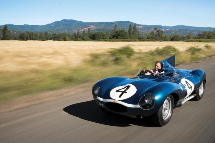 Deze Jaguar was destijds korte tijd de duurste Britse auto ooit geveild. De auto won de 24 Uurs race op Le Mans in 1956