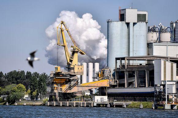Tegen de horizon stijgen de stoomdampen op van tal van bedrijven in de Gentse haven. Het Agentschap Zorg en Gezondheid onderzoekt of de besmetting ontstaan kan zijn in een koeltoren.