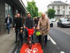 Les pistes cyclables de la rue Belliard sont prêtes