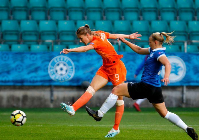 Vivianne Miedema tegen Estland