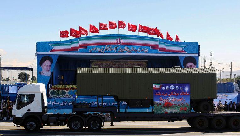 Iran toont een onderdeel van het luchtdoelsysteem S-300. Beeld AFP
