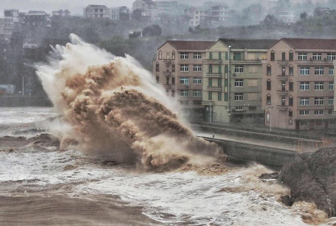 Tyfoon Lekima houdt flink huis aan de Chinese oostkust.