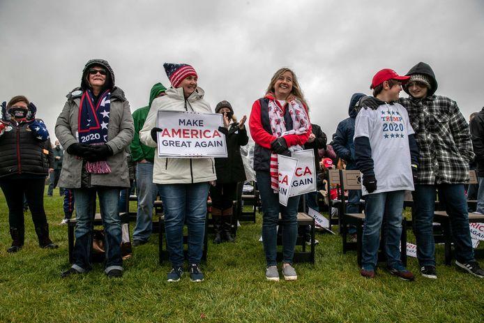 Les supporters de Trump dans le Michigan.