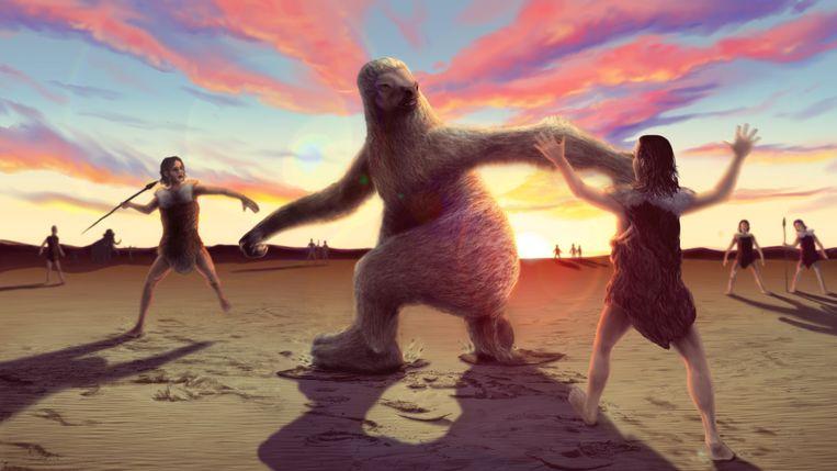De reuzenluiaard stierf ongeveer 11.000 jaar geleden uit. Vermoedelijk zit de mens achter de verdwijning van de soort