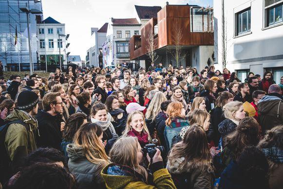 Vorig jaar legden vrouwen in Gent al het werk neer op 8 maart om te protesteren tegen de loonkloof.