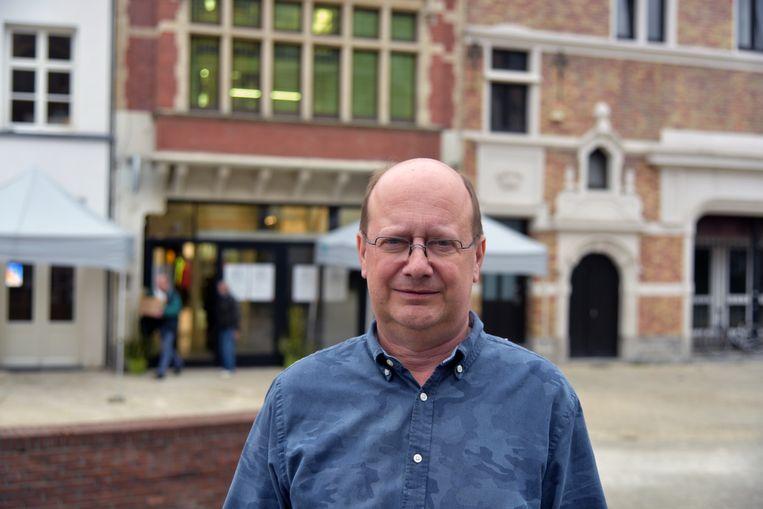 Opening GC De Rinck in Anderlecht voorzitter Johan Pype