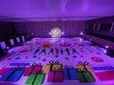 Het gigantisch clicformerstapijt van 200.000 speelgoedblokjes ter grootte van 450 m².
