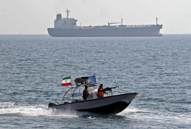 Een boot van de Iraanse Revolutionaire Garde op een archiefbeeld.