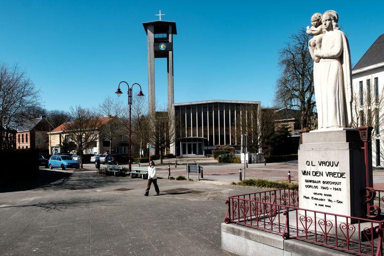 Boechout in lockdown. Protestants-Evangelische kerk Boechout.