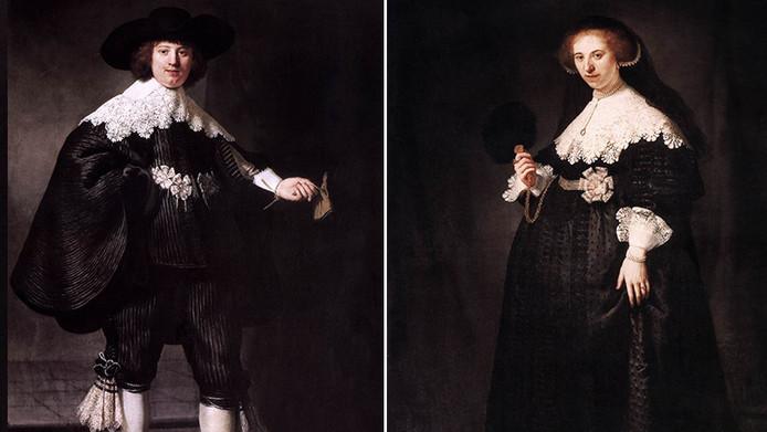 Het Amsterdamse regenten echtpaar Maerten soolmans en Oopjen Coppit.