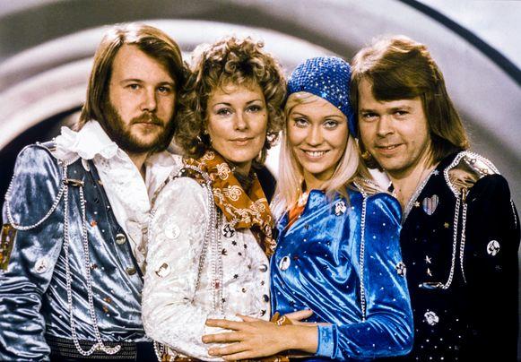 ABBA in hun hoogdagen in de jaren 70.