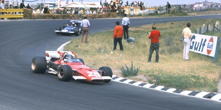 Beelden van de Formule 1-race op Zandvoort: de Grand Prix van 1975. James Hunt won dat jaar. Beeld ANP