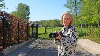 Fotografe trekt de straat op om dorpsgenoten (vanachter hun raam) in beeld te brengen