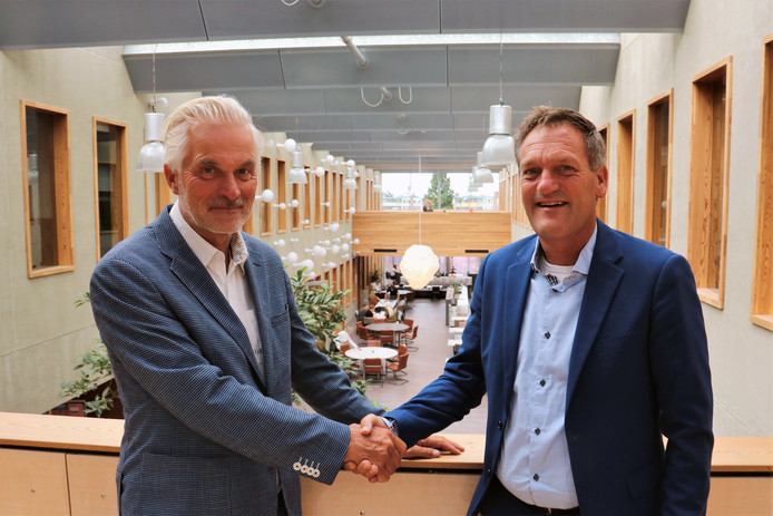 Klaas Bakker (links) met Jurgen Grobbée