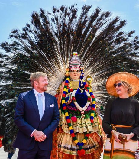 De koningin en de koning bezoeken een stukje Nederland in zuidelijk India