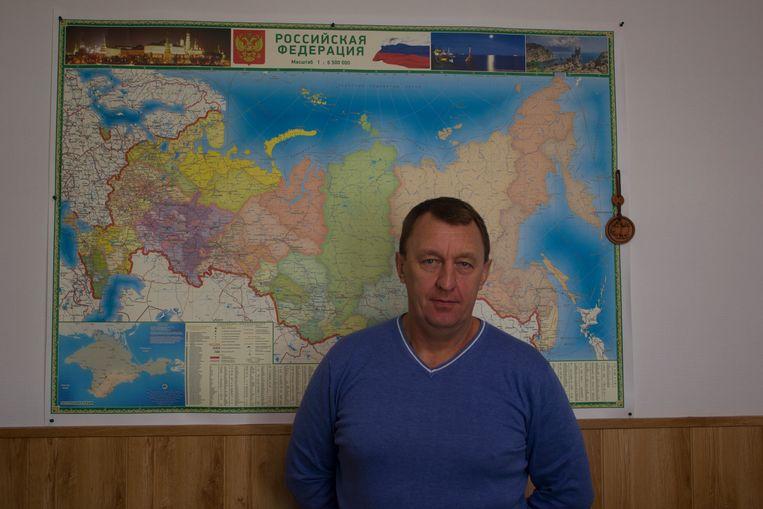 Oleg Koezmenko, eigenaar van een agrarisch bedrijf: 'De subsidies helpen enorm.' Beeld Jarron Kamphorst
