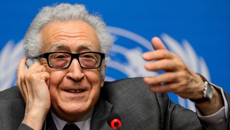 VN-bemiddelaar voor Syrië Lakhdar Brahimi. Beeld afp