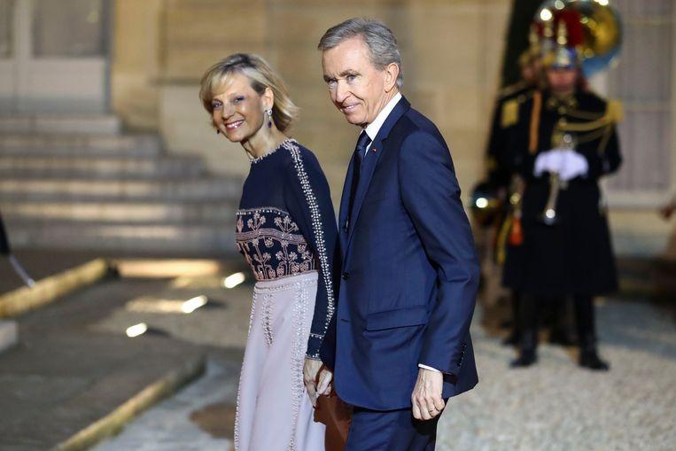 Bernard Arnault en Helene Mercier.