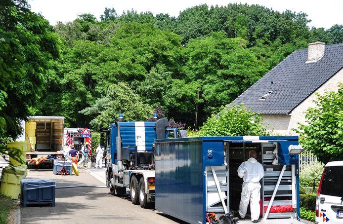 In het huis aan de Panoramastraat in Genk werd een groot drugslabo ontdekt.