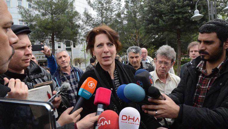 Fréderike Geerdink hoorde de aanklager gisteren vrijspraak eisen: 'Het is een opluchting, natuurlijk. Ik kan me weer op mijn werk concentreren.' Beeld Ilyas Akengin/AFP