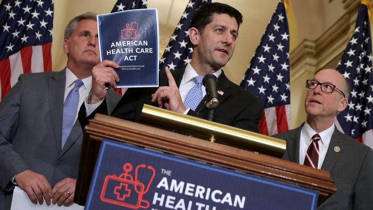 Een eerdere poging om Obamacare af te schaffen mislukte eind maart.