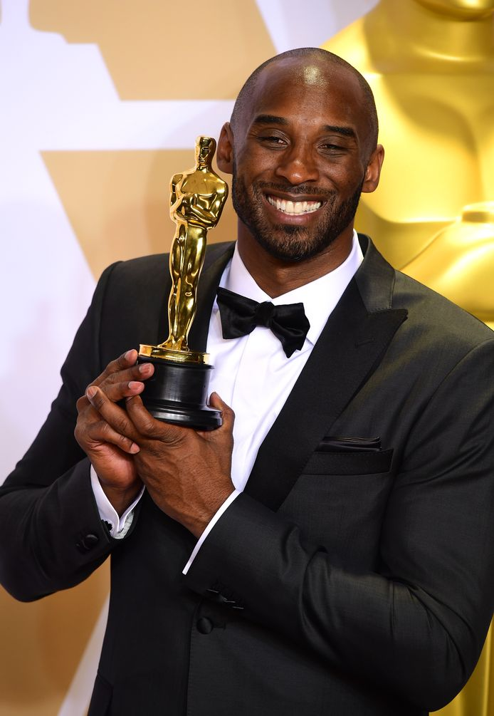 File photo dated 04-03-2018 of Kobe Bryant with his Best Animated Short Oscar for Dear BasketBall in the press room at the 90th Academy Awards held at the Dolby Theatre in Hollywood, Los Angeles, USA.