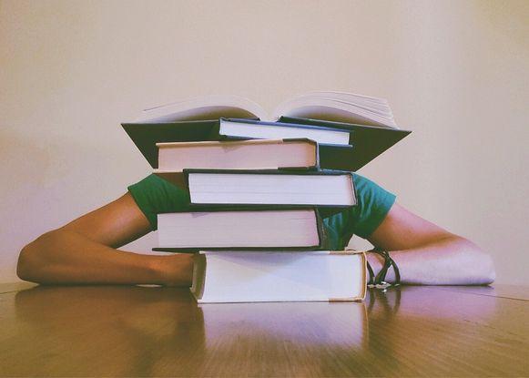 De Wemmelse studenten kunnen tijdens de blokperiode terecht in de bibliotheek.
