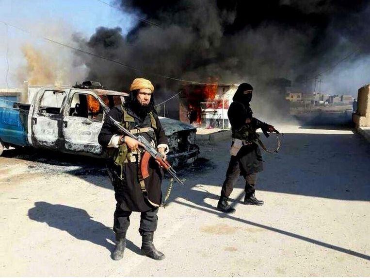 IS-strijders in Irak.