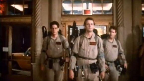 De 'Ghostbusters' Harold Ramis (l.), Bill Murray (m.) en Dan Aykroyd (r.).