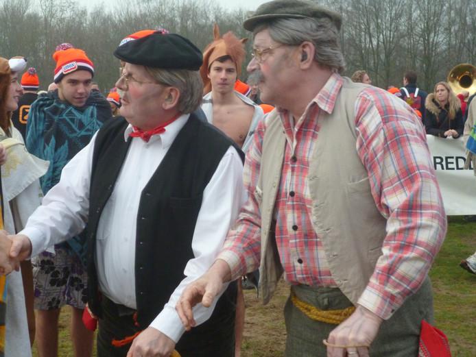 Hans en Hans, die elk jaar met een andere creatie te water gaan
