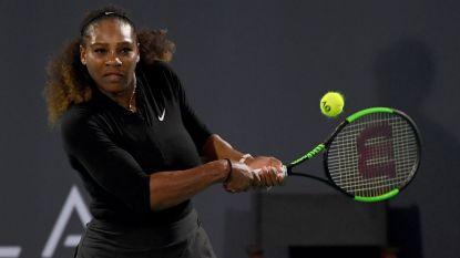Serena Williams maakt in maart haar rentree op het toernooi van Indian Wells