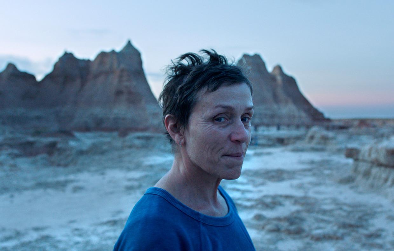 Frances McDormand in de film 'Nomadland' van Chloe Zhao.