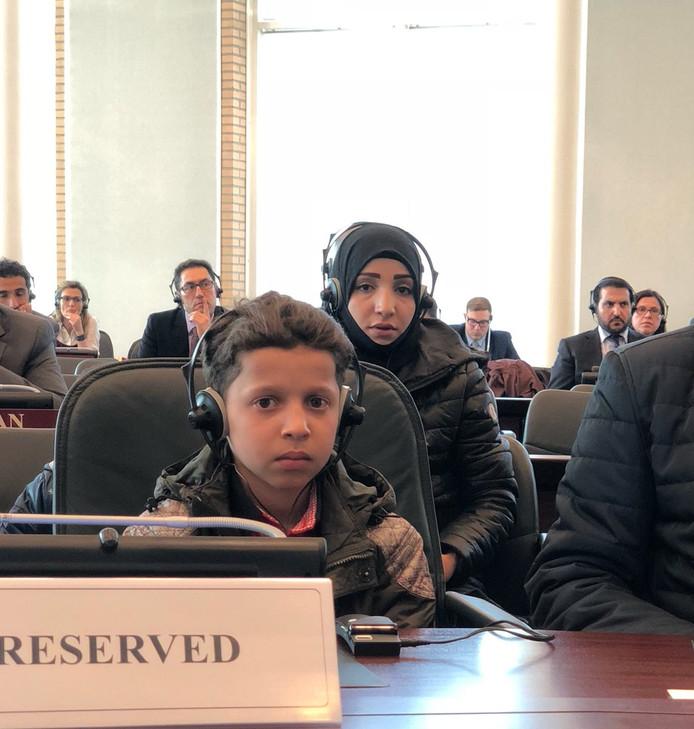 De 11-jarige Hassan Diab getuigde vanmiddag voor de OPCW. Zijn verhaal maakt volgens de Russen duidelijk dat de gifgasaanval in Douma in scène is gezet.