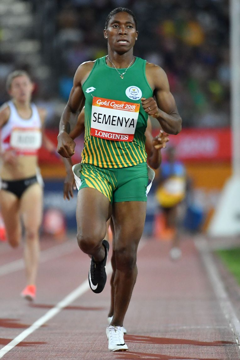 De mannelijk ogende Zuid-Afrikaanse atleet Caster Semenya. Beeld Saeed Khan / AFP