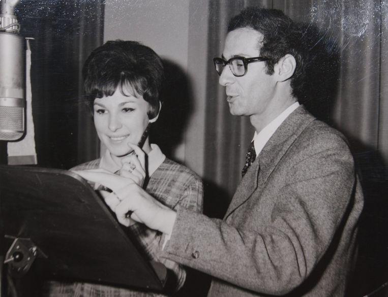 Marva Mollet met producer Jean Kluger.